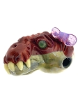 Tony Kazy Girl Dinosaur Glass Pendant